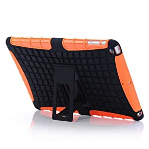 Bluesky 2in1 Combo Magnetic Front Smart Cover with Pc Back Case for Ipad Air Ipad 5 (Orange)