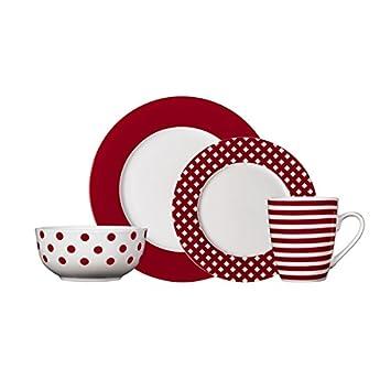Pfaltzgraff Kenna Red Casual Dinnerware Set (16-piece) Porcelain  sc 1 st  Amazon.com & Amazon.com | Pfaltzgraff Kenna Red Casual Dinnerware Set (16-piece ...