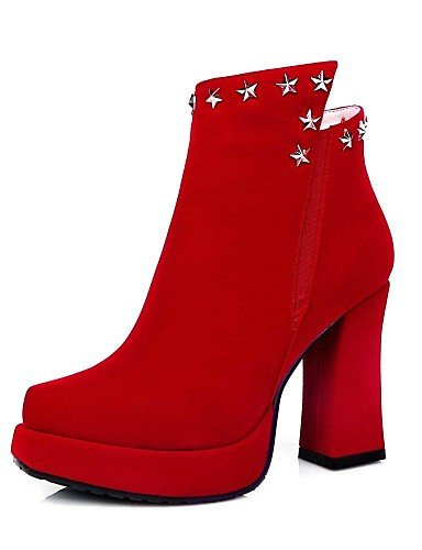 red uk8 a Botas Zapatos 5 de 5 cn43 eu42 5 mujer red Botas us10 Vestido Puntiagudos Moda Negro eu42 Spool cn43 red us10 Tacón la us9 XZZ Rojo uk7 cn41 eu40 Vellón uk8 5 0wvBFx0