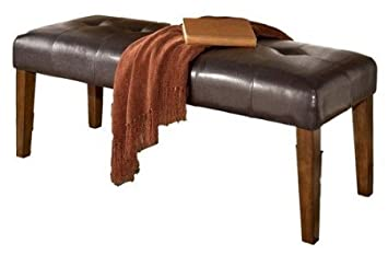 Large UPH Dining Room Bench Medium Brown Finish