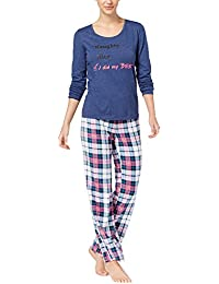 22e7eb361ec by Jennifer Moore Top   Printed Fleece Pants Pajama Set. Size  Medium.  Color · Jenni