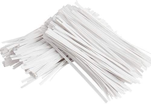 Ideal Party Favor Treat Bags Plastic Coated 1000 White Twist Ties NiftyPlaza 4 Length Twist Ties Small Orders Packaging Paper Ties Cello General Use No Rip