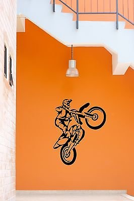 Wall Stickers Vinyl Decal Sport Motorcycle Trials Freestyle Motocross vs665