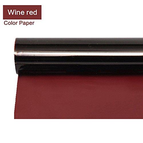 Meking Professional 16x20 Inch Red Gels Color Filter Paper Correction Gel Lighting Filter Photo Studio Light Red Head Light Strobe Flashlight - Light Wine Red