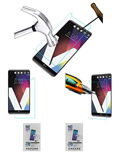 Acm Pack of 2 Tempered Glass Screenguard Compatible with Lg V20 Lgh990ds Screen Guard Scratch Protector