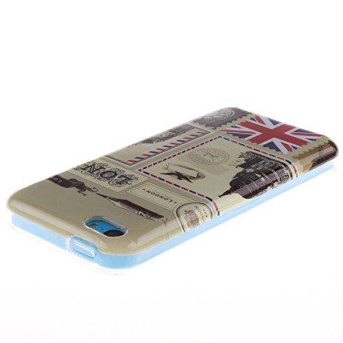 MOONCASE iPhone 5C Case Mode Muster TPU Silikon Tasche Schutzhülle Etui Hülle Schale Case Cover für iPhone 5C -TX18