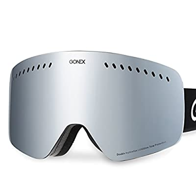 More Suitable for Double-board Skiing, Gonex Cylindrical Lens Ski Goggles, Anti-fog UV400 Protection Snow Snowboard Goggles