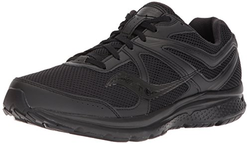 Saucony Men's Cohesion 11 Running Shoe, Black, 12 Wide US