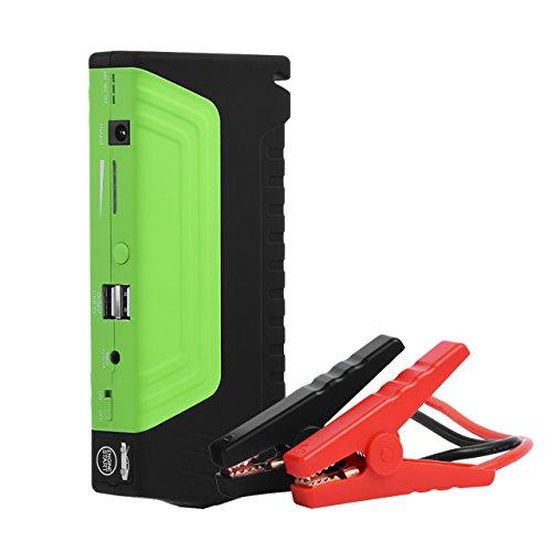 600AMP Peak 14000mah Auto Battery Jump Starter DEDC Booster Battery Pack Portable Flashlight USB 12V Image