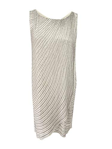 Adrianna Papell Women's Dress, Platinum, 14W
