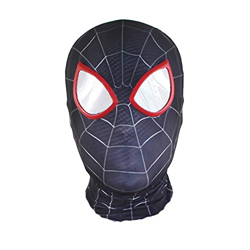 Unisex Kid Lycra Spandex Halloween Cosplay Mask with Lense One Size Headwear Hoods Prop