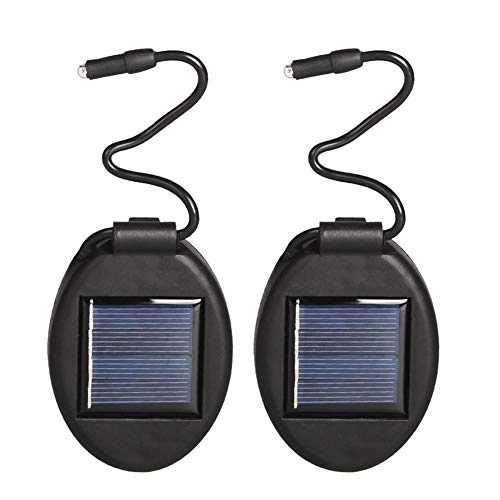 Misszhang-US 2Pcs Waterproof Yard Balcony Flower Pot Solar Energy Garden Light Lamp Decor