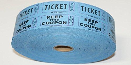 (Ticket GURUS-Double Raffle Ticket Roll : roll of 2000- (Blue))