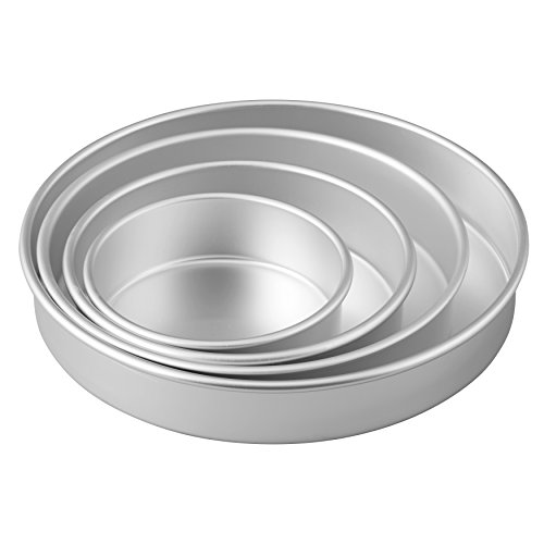 Wilton Round Cake Pans, 4 Piece Set for 6-Inch, 8-Inch, 10-Inch and 12-Inch Cakes by Wilton (Image #2)