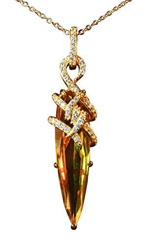 Tingle Alexandrite Necklace Pendant, 925 Sterling Silver Pendant Color Change Gemstone Fine Jewelry Silver Necklace Unique Bullet Stone Rock Pendant (Gemstone Alexandrite Necklaces)