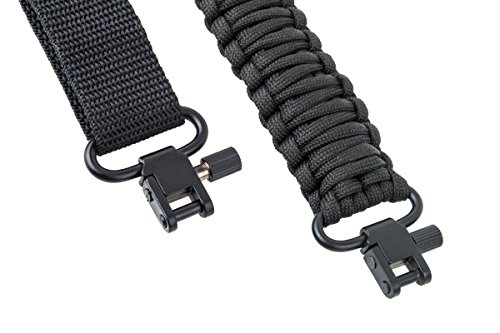 Ace Two Tactical Gun Sling 550 Paracord Rifle or Shotgun, 2 Point, Extra Strong Multi Use, Black