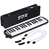 JDR Melodica 37 Keys Piano Style Keyboard Standard Tone Suitable for Teaching and Playing with a Carry Bag, Kids Music Gift