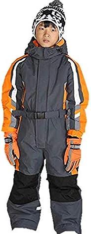 Genma0 One-Piece Snowsuit Waterproof Windproof Taslon Reflective for Kids/Boys, Girls
