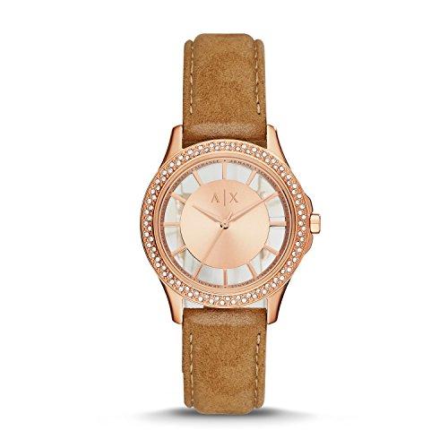 Armani Exchange Women's AX5254 Tan  Leather Watch