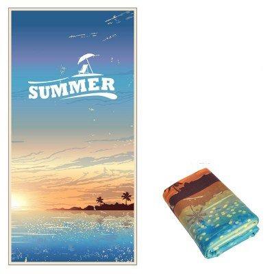 Toallas de playa, ligero, absorbente, compacto (152 * 76 cm),