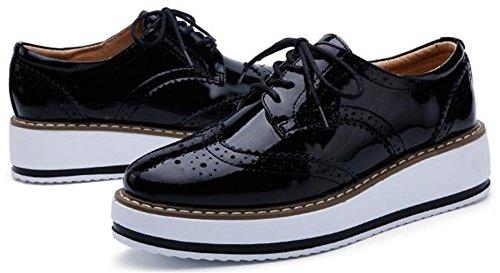 Wuiwuiyu Femme Noir À Lacets Chaussures CwqY0B
