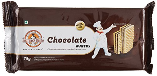 Gourmet Delight Wafers, Chocolate, 75g (Pack of 4)