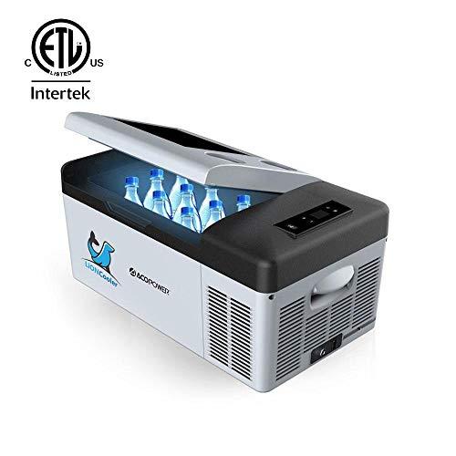 ACOPOWER LiONCooler Car Fridge Freezer -4°F by LG Compressor, Solar/AC/Car Charge (16 Quart, Replaceable Battery)