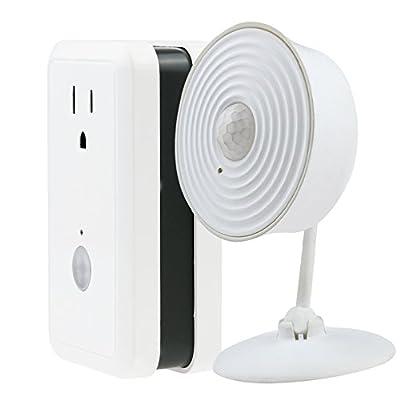 SimpleHome XCK7-1001-WHT WiFi Value Pack Smart Plug Energy Monitor & Motion Sensor, White