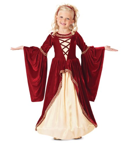 Crimson Renaissance Princess Kids Costume, Medium (8)