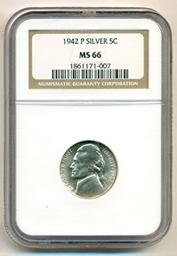 1942 P Jefferson Silver Nickel MS66 NGC