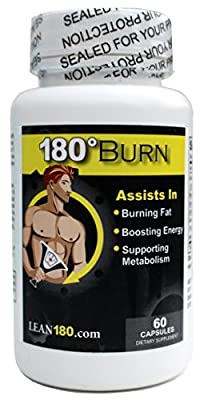 Lean 180 Burn - Thermogenic Weight Loss Supplement, Lose Weight with Best Diet Pills That Work, Get Lean, Burn Body Fat and Belly Fat, Break Through Plateaus, 100% All Natural Formula, Triple Strength, 60 Capsules