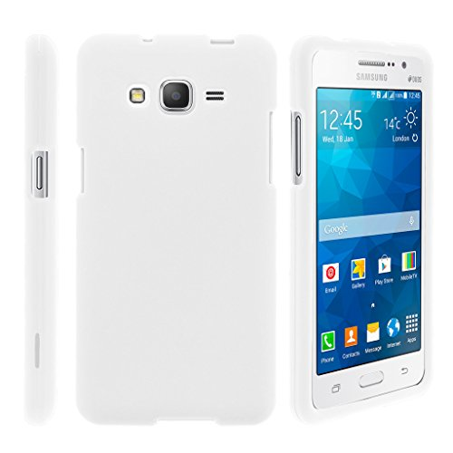 TurtleArmor | Compatible for Samsung Galaxy J3 Case | Amp Prime | Express Prime [Slim Duo] Smooth Matte Hard 2 Piece Shell Snap On Cover on White Gaming Design- White