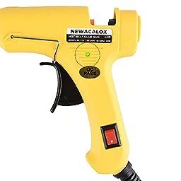 NEWACALOX 20W Mini Hot Melt Glue Gun Kit with 30pcs Hot Glue Sticks, Yellow