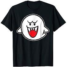 Nintendo Super Mario Boo Character Portrait Graphic T-Shirt