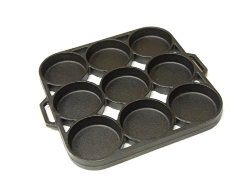 King Kooker CI9BPS 9 Impression Seasoned Biscuit Pan