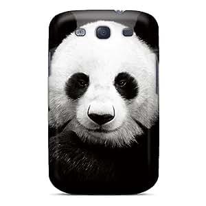 Hot LDUMwTh8473TwRaU Case Cover Protector For Galaxy S3- Black Panda