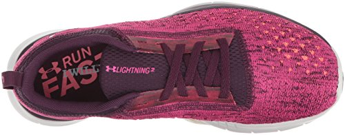 Lightning W Armour para UA Mujer 500 Under Zapatillas 2 Entrenamiento Rosa de Merlot tfwq8E