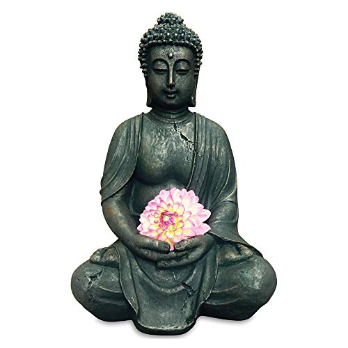 WHW Whole House Worlds Statue of a Seated Dhyanasana Buddha Museum Quality Reproduction 2 Feet 3 ½ Inches, (27 1/2 Inches) Tall from The Serenity Collection