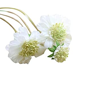 NXDA Artificial Flowers, 1 piece of Windmill Orchid Fake Silk Flowers Bouquet for Home Floor Garden Office Wedding Decor (White) 71