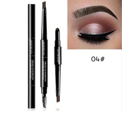 Coohole New 3 IN 1 Automatic Waterproof long-lasting Multifunctional Eyebrow Pigment Makeup (D)