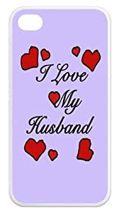 I Love my Husband Durable Apple iPhone 4,4s Covers Back Cases by lolosakes