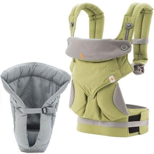 UPC 045625036430, Ergobaby Bundle - 2 Items: Green 4 Position 360 Carrier and Grey Infant Insert