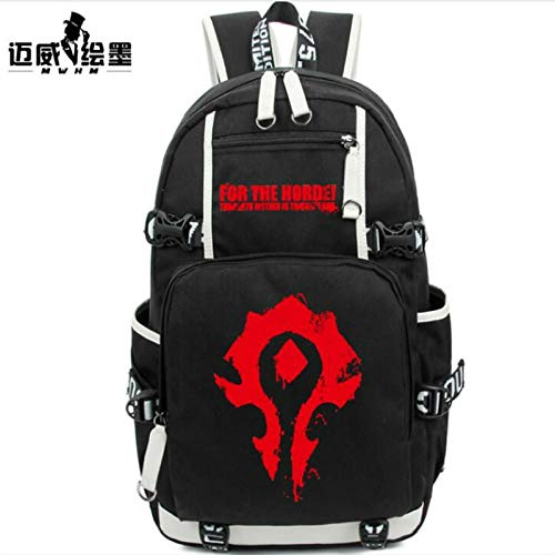 2017 Schoolbag World Warcraft Horde Symbol Bag Styles Between Male and Female Students Backpack