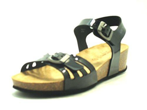 GRÜNLAND Mujer Grünland Sandalo Con Zeppa In Sughero Anin Sb0648 - Nero Sandalias