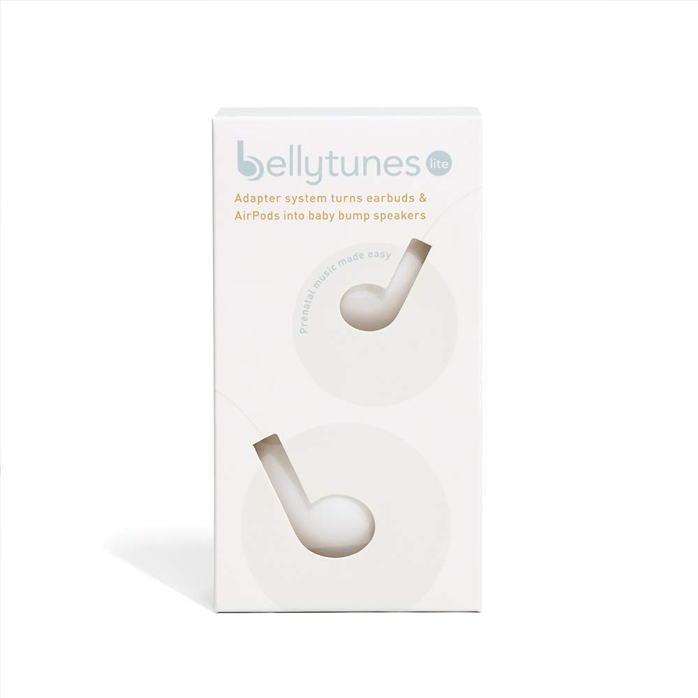 Bellytunes Prenatal Pregnant Earbuds Adapter System for iOS & Samsung Devices | Turns Earbuds Into Baby Bump Speakers (Bellytunes Lite)