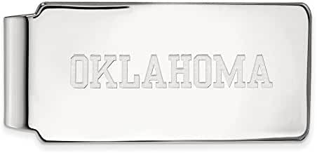 10k White Gold LogoArt Official Licensed Collegiate University of Oklahoma (OU) Money Clip