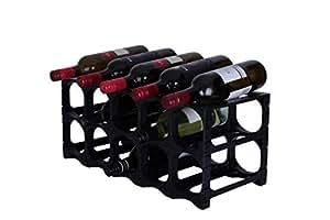 CellarStak 15 Bottle Wine Rack Black