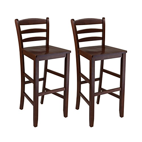 Winsome 29-Inch Bar Ladder Back Stool, Set of 2 (Tables Sale Pub Antique For)