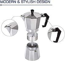 Cafeteras italianas de Acero Inoxidable Cafetera Espresso Moka Express Cafetera de Aluminio, 3 tazas / 6 tazas / 9 tazas / 12 tazas(150ML 3cups): Amazon.es: Hogar