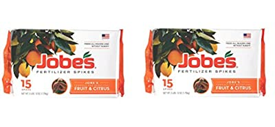 Jobe's Fruit & Citrus Fertilizer Spikes 9-12-12 Time Release Fertilizer for All Fruit Trees, 15 Spikes per Package